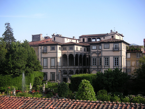 lucca italy palazzo pfanner from the ramparts