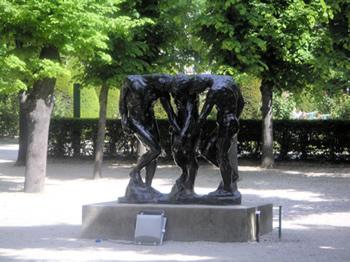 Rodin museum garden statue