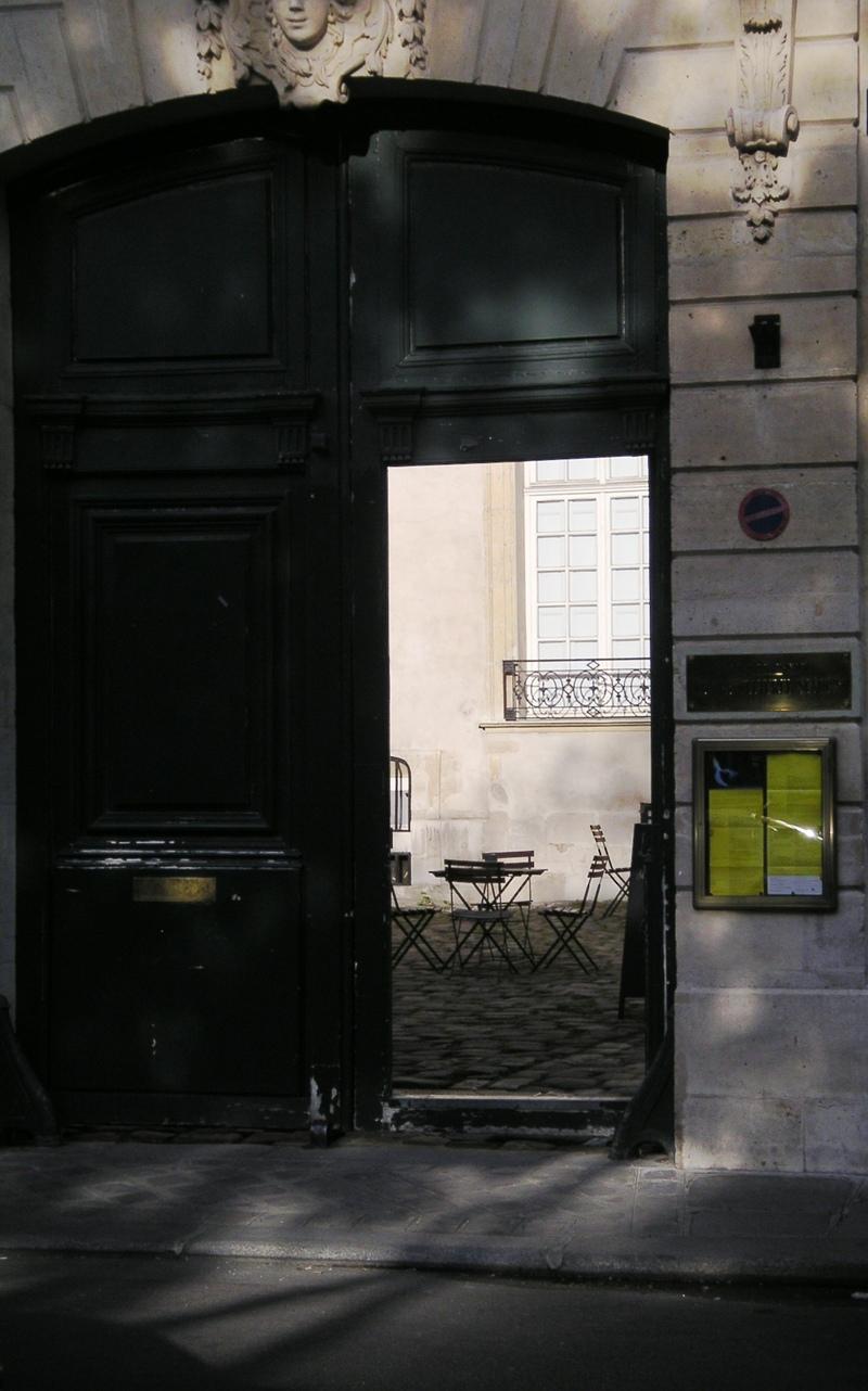 Behind a black door in Paris