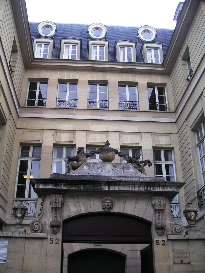 Ornate Paris Door and Courtyard
