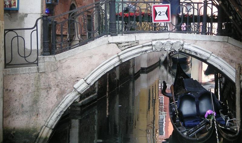 Gondola bridge venice italy