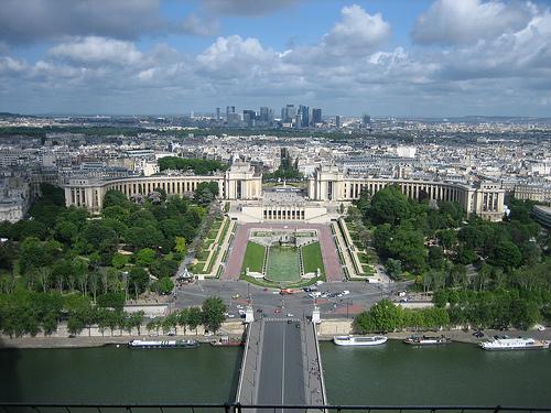 Picnic spots in Paris Trocadero Gardens