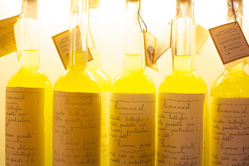 southern italy food drink specialties like limoncello
