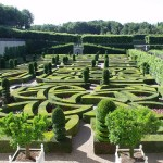 Villandry Gardens if a famous garden in France