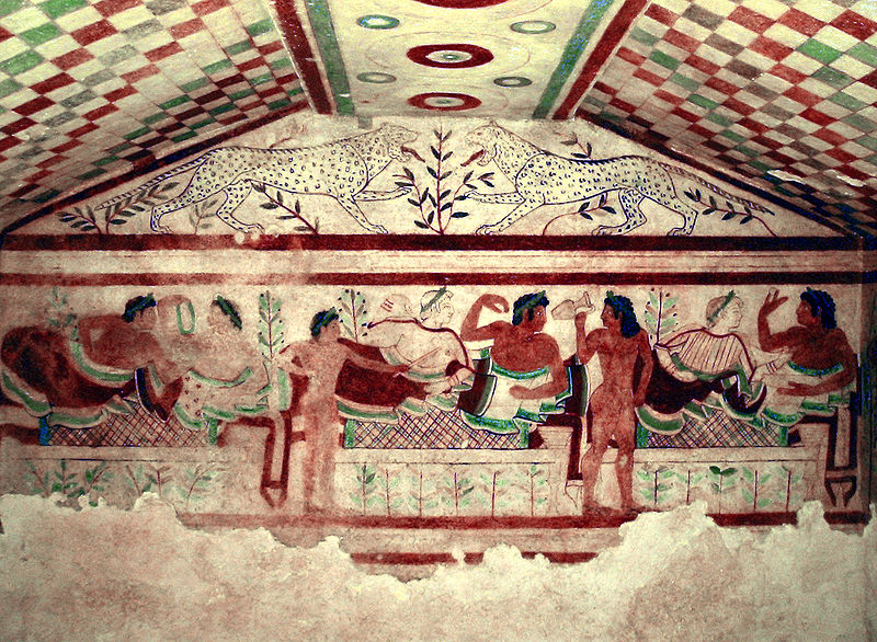 Etruscan Ruins in Italy Traquinia Tomb of the Leopards