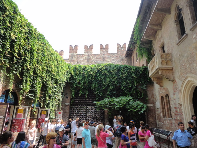 Famous balcony from Romeo and Juliette in Verona