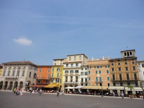 a piazza in verona italy