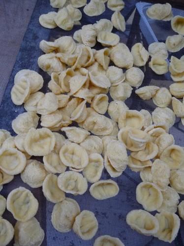 orecchiette pasta in old bari