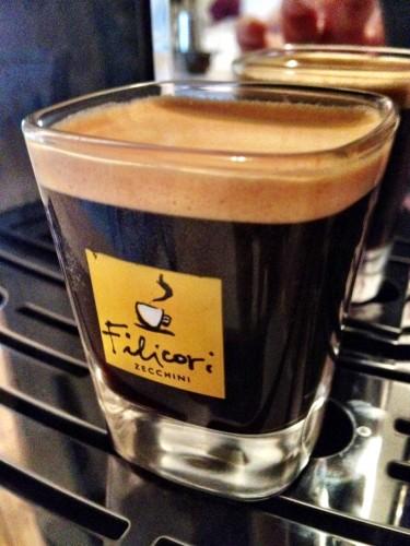 Espresso shot crema