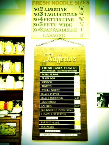 Homemade Pasta Choices at Rafettos