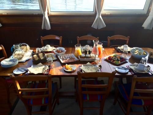 gourmet breakfast athos barge canal du midi