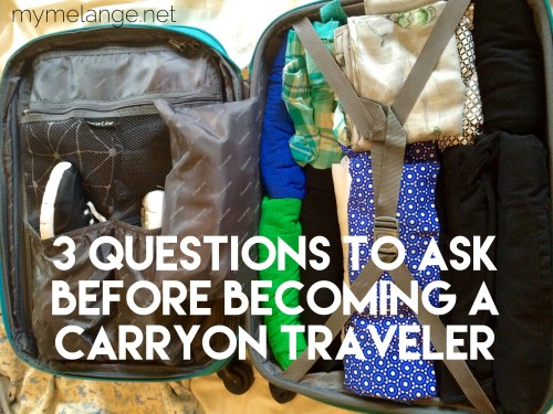 can you be a carry on traveler