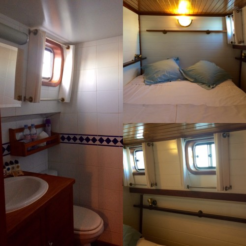 rooms on a canal du midi barge